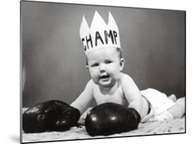 The Champ--Mounted Art Print