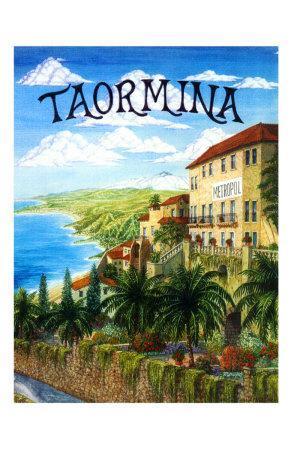 Taormina, Sicily, Italy-Caroline Haliday-Framed Giclee Print