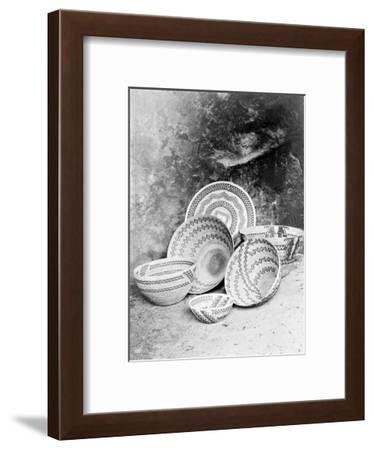 Yokuts Baskets-Edward S^ Curtis-Framed Giclee Print