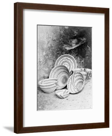 Yokuts Baskets-Edward S^ Curtis-Framed Giclee Print