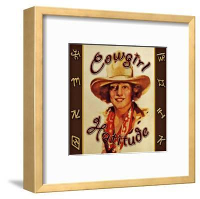 Cowgirl Hattitude--Framed Giclee Print