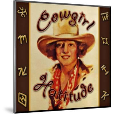 Cowgirl Hattitude--Mounted Giclee Print