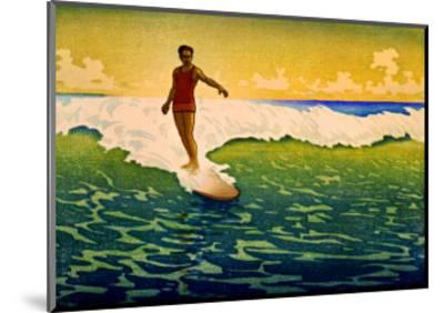 Hawaiian Surf Sunset--Mounted Giclee Print