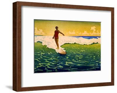 Hawaiian Surf Sunset--Framed Giclee Print