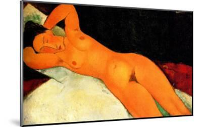 Nude with Necklace-Amedeo Modigliani-Mounted Giclee Print