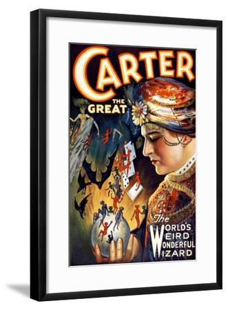 Carter the Great Magician Wizard--Framed Giclee Print