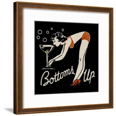 Bottoms Up--Framed Art Print