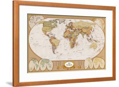 World Antique Map--Framed Art Print