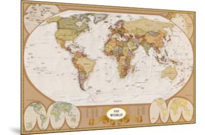 World Antique Map--Mounted Art Print
