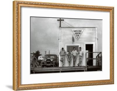 Waiting for a Swell, 1940-Doc Ball-Framed Art Print