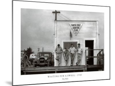 Waiting for a Swell, 1940-Doc Ball-Mounted Art Print