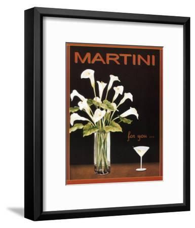 Martini-Kathleen Richards-babcock-Framed Art Print