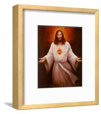 Jesus' Sacred Heart-T^ C^ Chiu-Framed Art Print