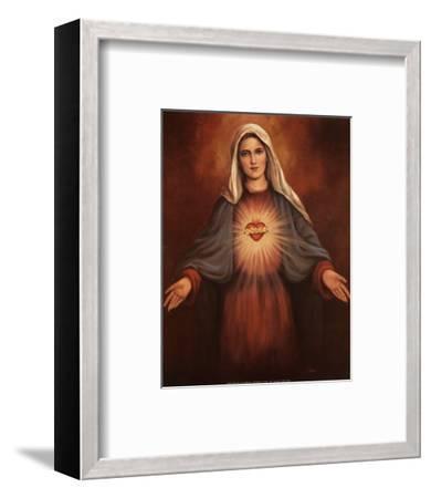 Mary's Immaculate Heart-T^ C^ Chiu-Framed Art Print