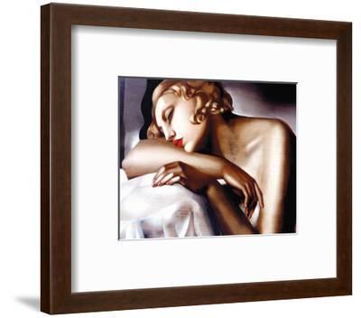 The Sleeper-Tamara de Lempicka-Framed Art Print