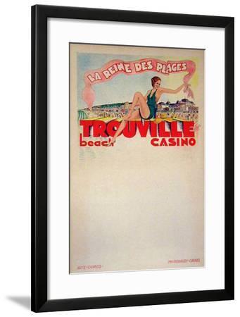 Trouville La Reine Des Plages (c.1933)--Framed Collectable Print