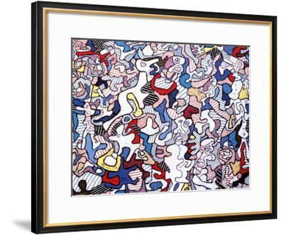 Family Life, August 10, c.1963-Jean Dubuffet-Framed Art Print