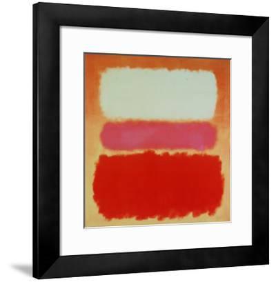 White Cloud over Purple-Mark Rothko-Framed Art Print