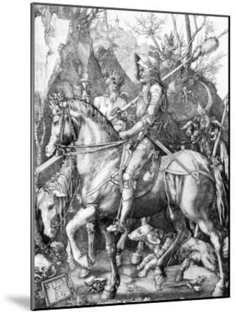 The Knight, Death and The Devil , c.1514-Albrecht D?rer-Mounted Art Print
