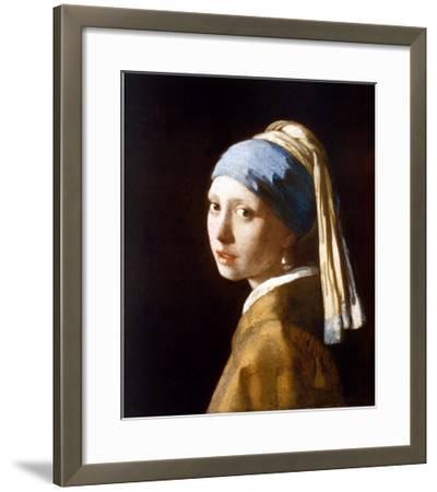 Girl with a Pearl Earring (2003)-Johannes Vermeer-Framed Art Print