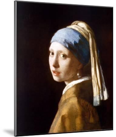 Girl with a Pearl Earring (2003)-Johannes Vermeer-Mounted Art Print