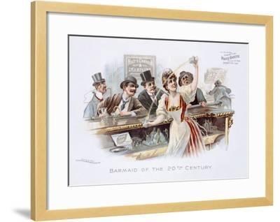Bar Maid of the 20th Century--Framed Giclee Print