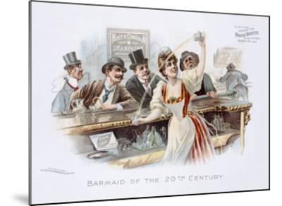 Bar Maid of the 20th Century--Mounted Giclee Print