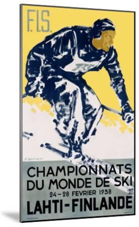 Finnish Snow Ski Championship--Mounted Giclee Print