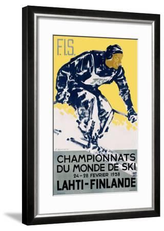 Finnish Snow Ski Championship--Framed Giclee Print