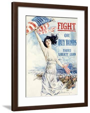 WWI, Fight Or Buy Liberty Bonds--Framed Giclee Print