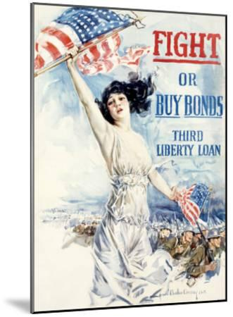 WWI, Fight Or Buy Liberty Bonds--Mounted Giclee Print