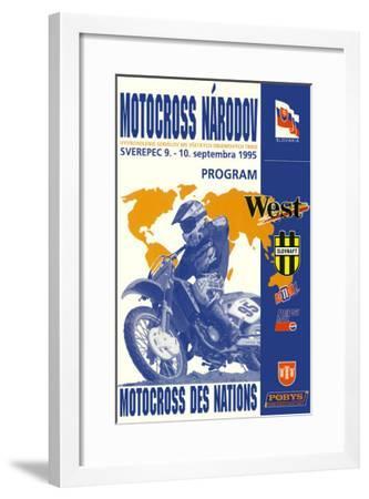 Narodov Nations of Motocross--Framed Giclee Print