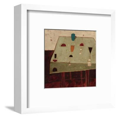 Table with Blue Cup-Oakley-Framed Art Print
