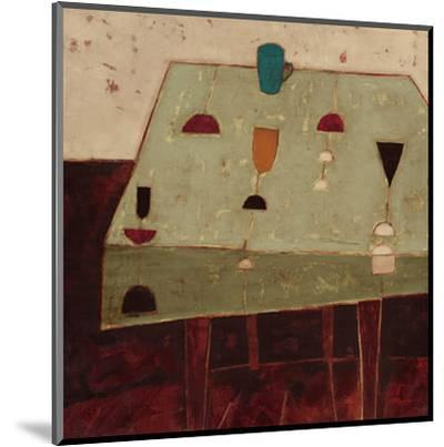 Table with Blue Cup-Oakley-Mounted Art Print