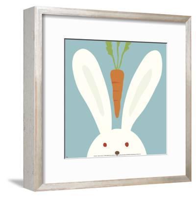 Peek-a-Boo I, Rabbit-Yuko Lau-Framed Art Print