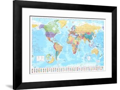 World Map--Framed Poster