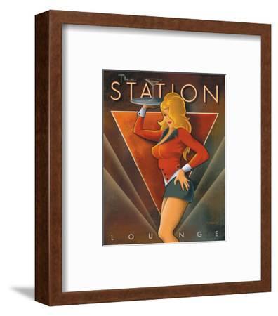 The Station Lounge-Michael L^ Kungl-Framed Art Print