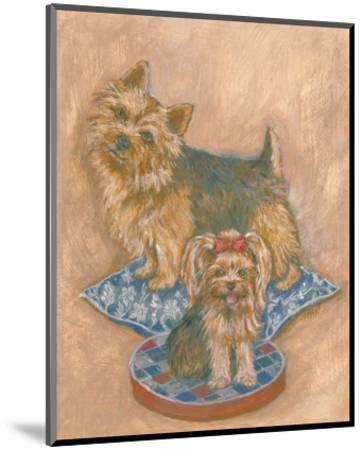 Terriers-Carol Ican-Mounted Art Print