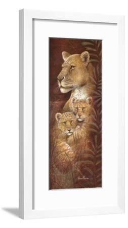 Serengeti Twins-Ruane Manning-Framed Art Print