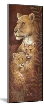 Serengeti Twins-Ruane Manning-Mounted Art Print