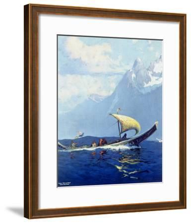 Northern Pacific Railroad, Alaska--Framed Giclee Print