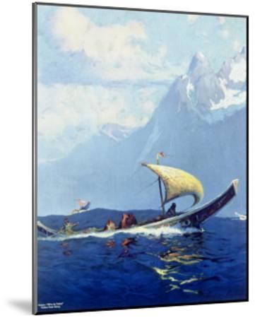 Northern Pacific Railroad, Alaska--Mounted Giclee Print