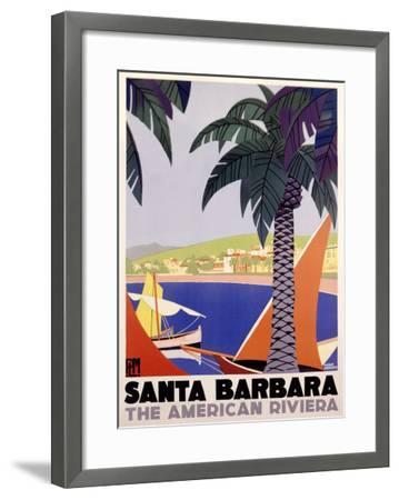 Santa Barbara American Riviera--Framed Giclee Print