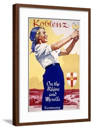 Koblenz German Rhein-Ludwig Hohlwein-Framed Giclee Print