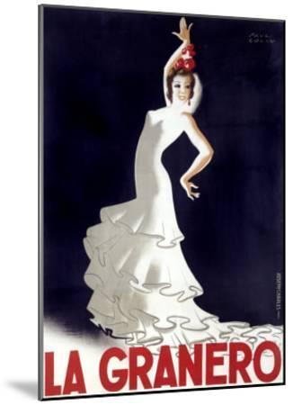 La Granero Flamenco Dance-Paul Colin-Mounted Giclee Print
