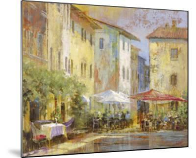 Courtyard Cafe-Michael Longo-Mounted Art Print