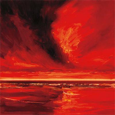 Red Night I-Robert J^ Ford-Framed Art Print