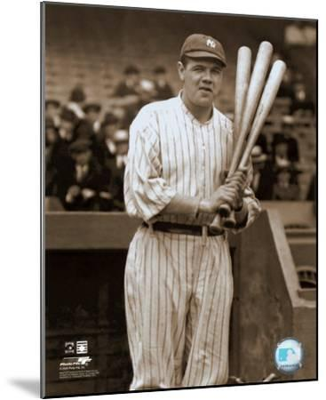 Babe Ruth - with 3 bats - ©Photofile--Mounted Photo