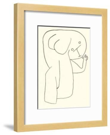 Engel im Kingergarten, c.1939-Paul Klee-Framed Serigraph