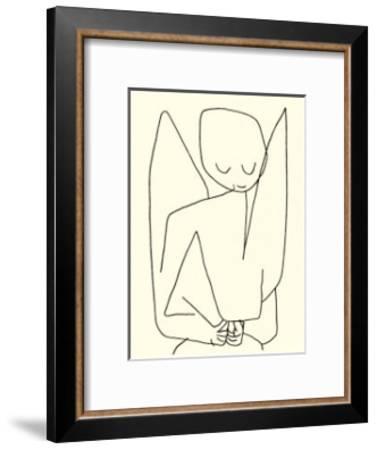 Vergesslicher Engel, c.1939-Paul Klee-Framed Serigraph